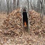 Bushcraft Forest Group Shelter
